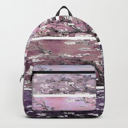 Vincent Van Gogh : Almond Blossoms Panel Art Purple Plum Backpack