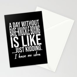 Bare-knuckle boxing funny gift idea Stationery Cards