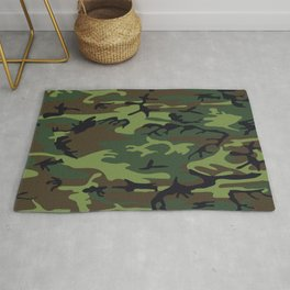 Army Camouflage Rug