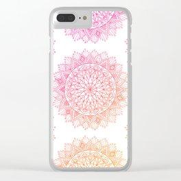 Pink & Orange Mandala Clear iPhone Case