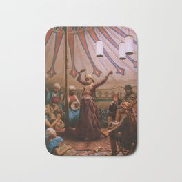 Egyptian dancer in a tent Bath Mat