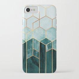 Teal Hexagons iPhone Case