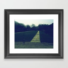 Le Fence Framed Art Print