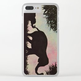 Elephant love <3 Clear iPhone Case