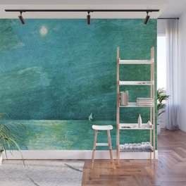 Classical Masterpiece 'Moonlight on the Sound' by Frederick Childe Hassam Wall Mural