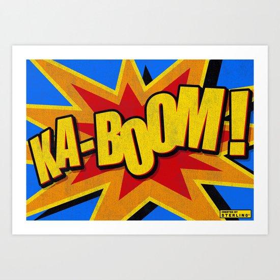 KA-BOOM! Distressed Classic Comic Book Style  Art Print