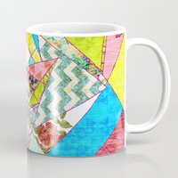 quilt Mugs featuring Geometric Quilt by Sandra Arduini