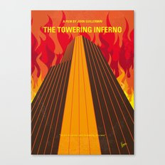 No665 My The Towering Inferno minimal movie poster Canvas Print