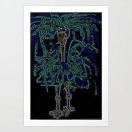 Neon Sally Rand Art Print