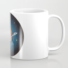 Solar System: Saturn - the Crowned King & his moons Coffee Mug