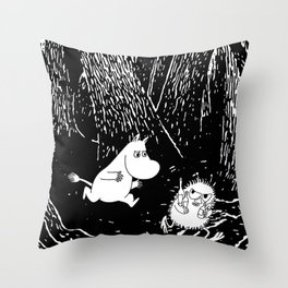 Moomins run for Stinky Throw Pillow