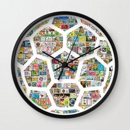 Philately Soccer Ball Wall Clock