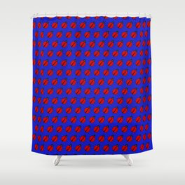 Ladybugs Pattern-Dark Blue Shower Curtain