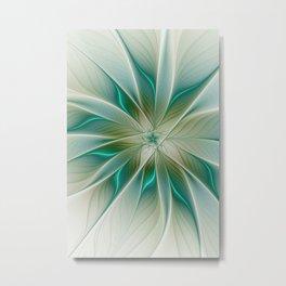 Floral Lights, Abstract Fractal Art Metal Print