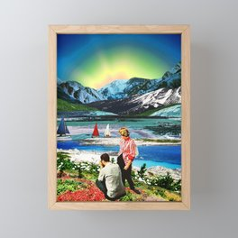 Picture of a blue sunset Framed Mini Art Print
