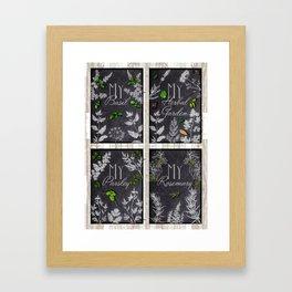 My Herbal Garden - Basic Herbs Set Framed Art Print