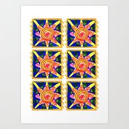 sun pattern Art Print