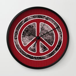 Peace Symbol-Dissd Wall Clock