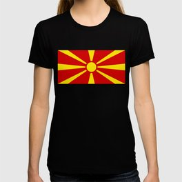 National flag of Macedonia - authentic version T-shirt