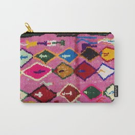 Very Colorful Retro Moroccan Rug Print Carry-All Pouch