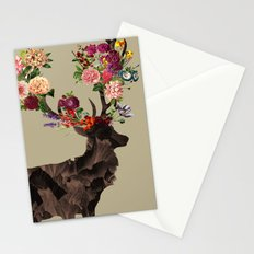 Spring Itself Deer Flower Floral Tshirt Floral Print Gift Stationery Cards