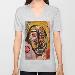 Portrait of an unknown my self Unisex V-Neck
