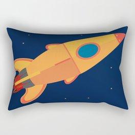 the yellow rocket Rectangular Pillow