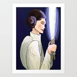 Sleep Well, Princess Art Print