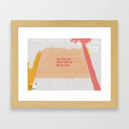 Farinha do Desprezo Framed Art Print