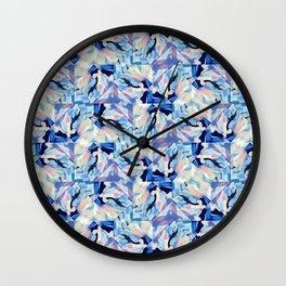 Bibbity Bobbity Blue (Abstract Painting) Wall Clock