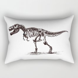Dinosaur Skeleton in Ballpoint Rectangular Pillow