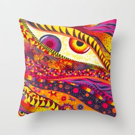 """GeminEye"" by Aly Stinson Throw Pillow"