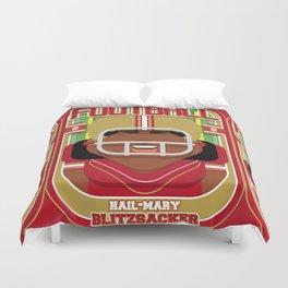 American Football Red and Gold - Hail-Mary Blitzsacker - Aretha version Duvet Cover