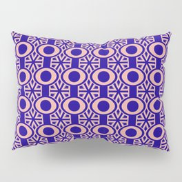 Navy and Pink Retro Design Pillow Sham
