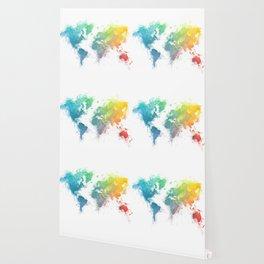 World Map splash 1 Wallpaper