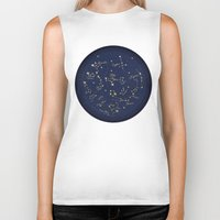 constellations Biker Tanks featuring Constellations by Cina Catteau