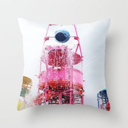 Aqua Park Throw Pillow