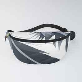 Black and White Feather polygon art Fanny Pack