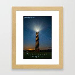 Bodie Island Light - Outer Banks North Carolina.  Framed Art Print