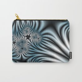 Blue Zebra Fractal Carry-All Pouch