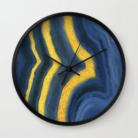 agate Wall Clocks featuring agate by The Pretty Shop NYC