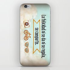 Felicidad - Happiness iPhone & iPod Skin