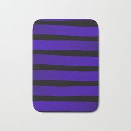 Blue Violet Indigo Ombre Stripes - Black Bath Mat