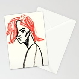 red hair girl 02 Stationery Cards
