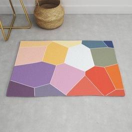 Colored Tiles Blocks Pattern Rug