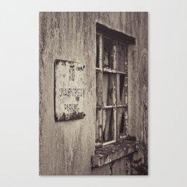 Unauthorised Canvas Print