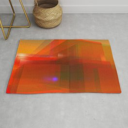 red glass and a lilac reflection Rug