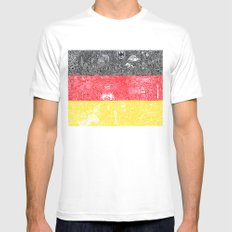 Made In Germany Mens Fitted Tee MEDIUM White