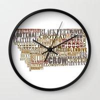 montana Wall Clocks featuring Montana by Madison Apple