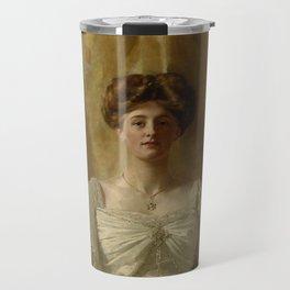 "John Collier ""Portrait of The Hon. Mrs Harold Ritchie"" Travel Mug"